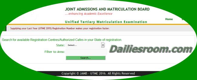 2015 JAMB Registration Centres