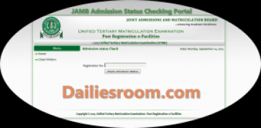 JAMB Admission Status Checking Portal