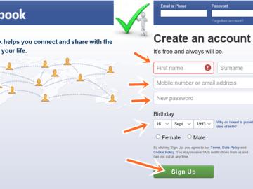 Facebook Sign up For Easy FB login on www.facebook.com