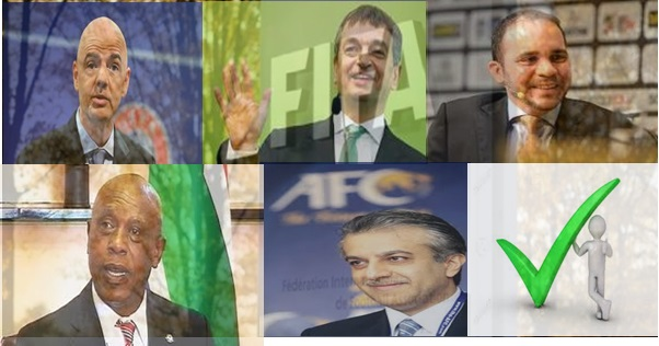 Five Candidates for FIFA Presidential Election