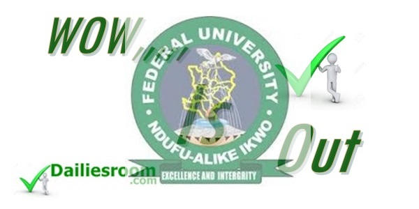 2015 FUNAI Supplementary Post UTME Result Released