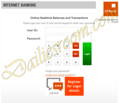 How to Apply for GTBank Internet Banking service