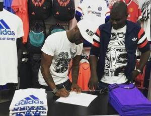 Adidas Sign Peter Okoye