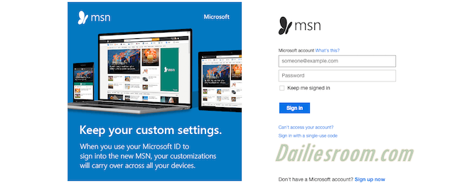www.msn.com Email Sign Up Page | MSN Login