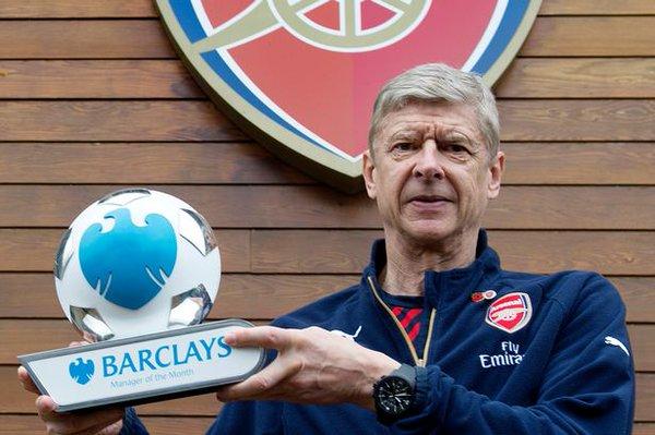 Arsene Wenger wins BPL award for October