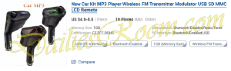 New Car Kit MP3 Player Wireless FM Transmitter