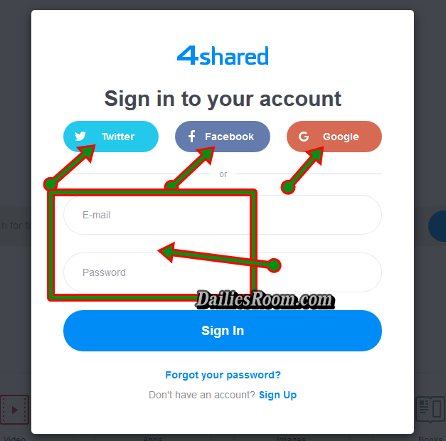 www.4shared.com - 4sharéd New Account Sign Up | 4shared Login