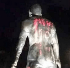 Messi fans vandalise Cristiano statue after 2016 Ballon D'Or ceremony