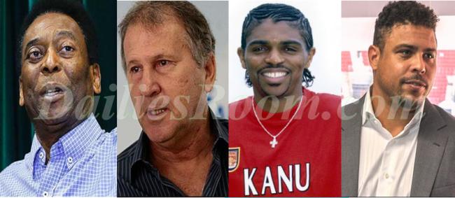 PELE, Zico, Nwankwo Kanu & Ronaldo Retired Top 48 football legend worldwide By IFFHS