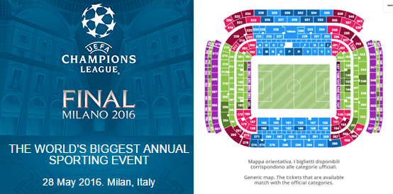 2016 UEFA Champions League Final Tickets