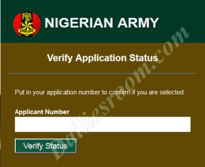 2016 Army 75RRI Pre-Screening Results (Nigerian Army)