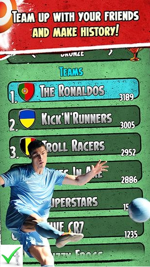 Free Cristiano Ronaldo Kick n run APK download Latest Version