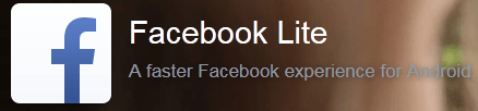 Download Facebook Lite on Android Phone