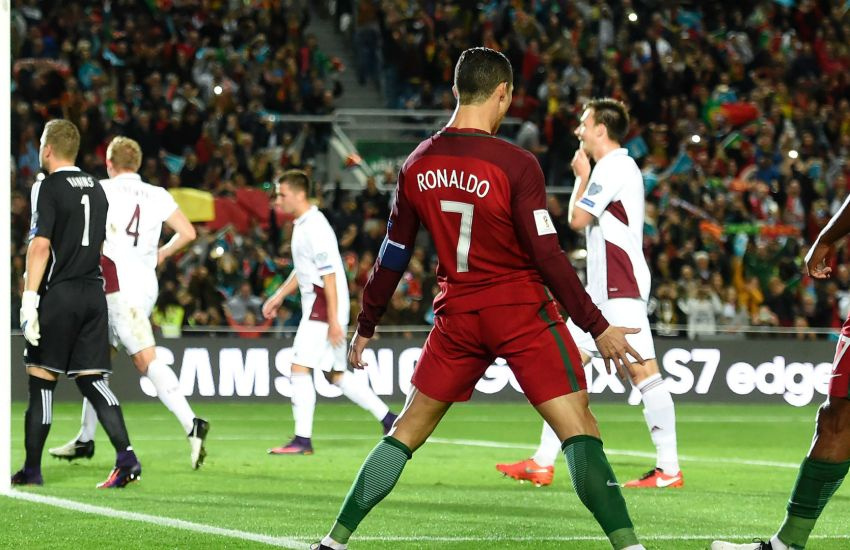 Cristiano Ronaldo Portugal vs Latvia 13/11/2016 (New European Record )