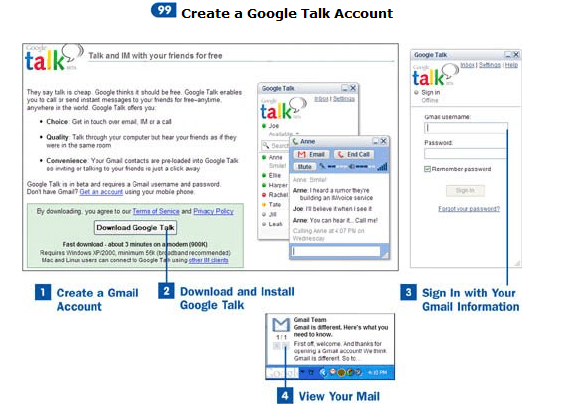 Create a Google Talk account for windows | sign up for Gtalk