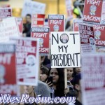 """Not my President"" yelled thousands that protest Trump's win"
