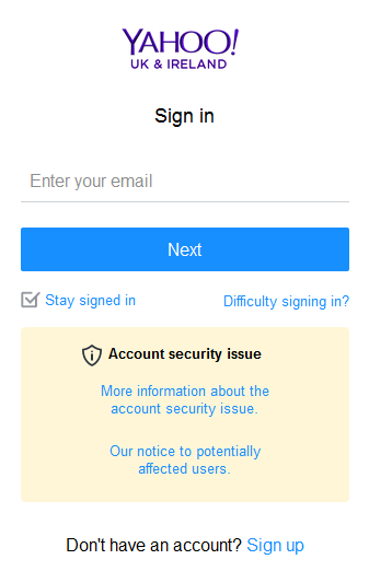 Yahoo mail Uk account registration and sign in | yahoo.co ...