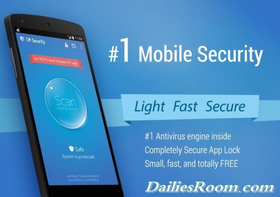 How to Install CM Security Applock Antivirus App for android - secure your device
