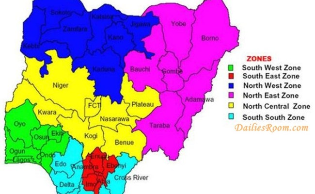 The 6 Geopolitical Zones in Nigeria and their states   List of the Zones And States