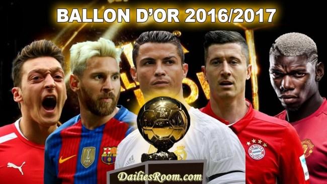 Ballon d'Or 2016 Winner - Cristiano Ronaldo beats Lionel Messi to best player award
