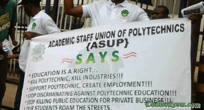 ASUP begins a One-week Nationwide warning Strike | Implementations of Needs Assessment report