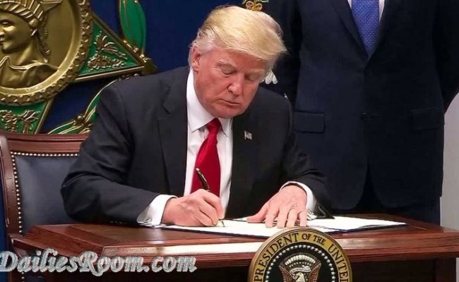 President Donald Trump Signs Executive order to keep out radical islamic terrorists
