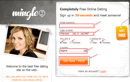 Free Dating Site - Mingle2 dating site registration free | Sign up for mingle2 Account | www.mingle2.com