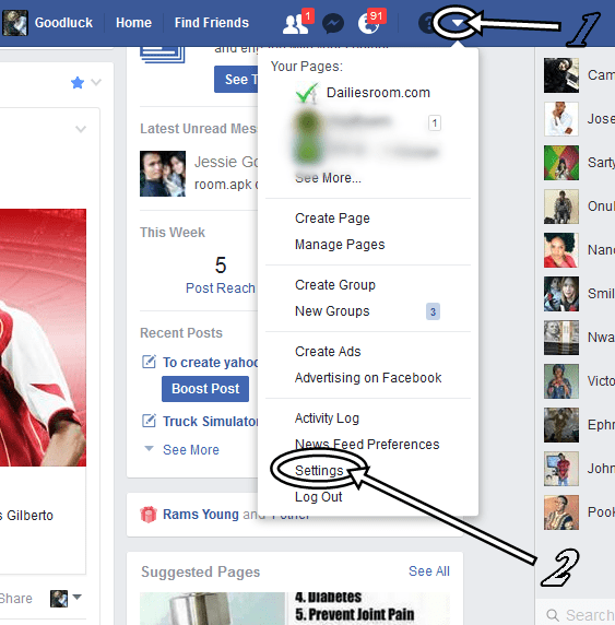 Infography to Change Facebook Name