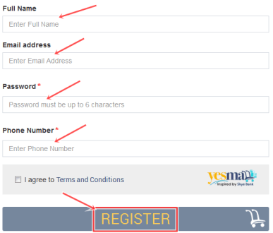 free Sign Up Yesmall Acount | Yesmall Account free Registration | Yesmall Buyer registration