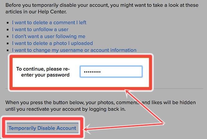how to delete my instagram account temporarily