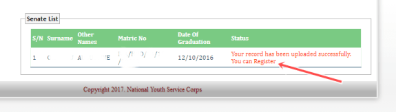 NYSC 2017 Batch 'A' ; Check NYSC Senate Approved Mobilization List for all Institutions