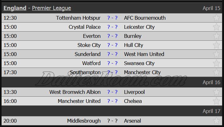 England - Premier League April 2017