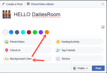 Easy Steps to Change Facebook Post Background on Android And PC