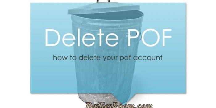 How To Hide, Delete or Remove Profile on POF - Delete Your Account