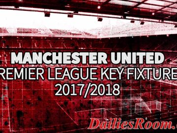 English Premier League: 2017-18 Manchester United Match Fixtures