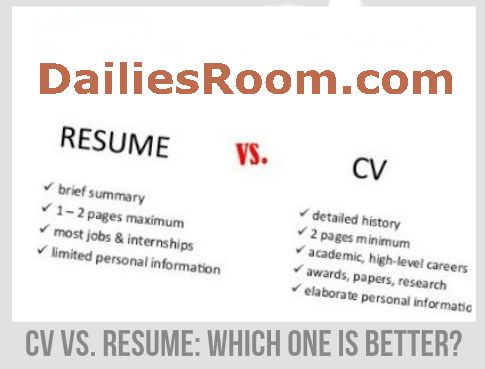 What's the Difference? Resume VS Curriculum Vitae Format
