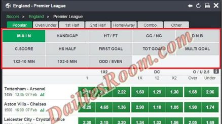 List of Football Betting Codes and Meanings   football Bet Placing Codes