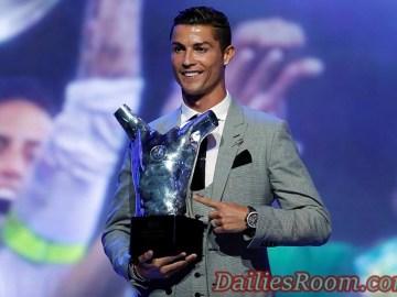 2017 UEFA Men's Player Award - Cristiano Ronaldo Wins Award Three Times
