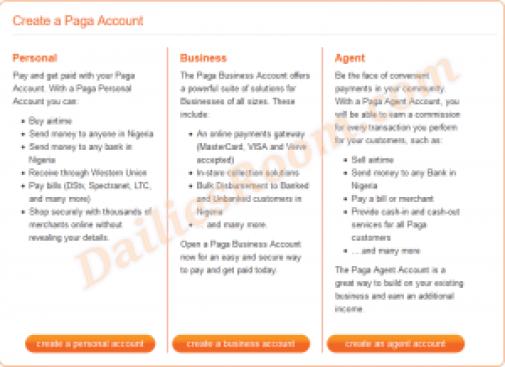 Signup for Paga | Paga Account Free Registration | Paga Login