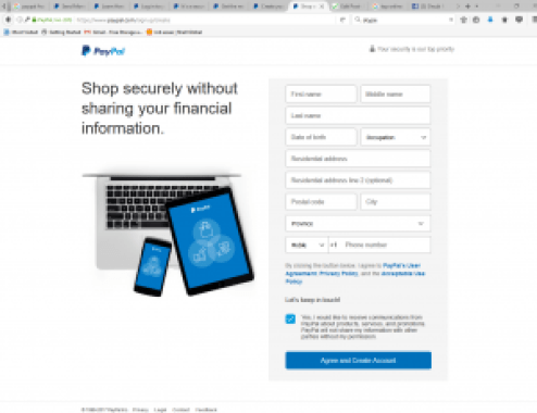 PayPal Account SignUp Process   PayPal Account Free Registration