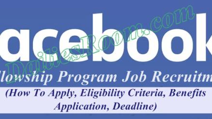 Signup Facebook Fellowship Program Application for Job Recruitment
