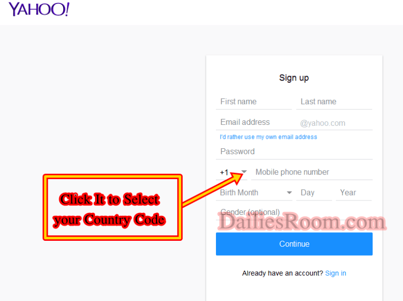 Register Free Yahoo Mail