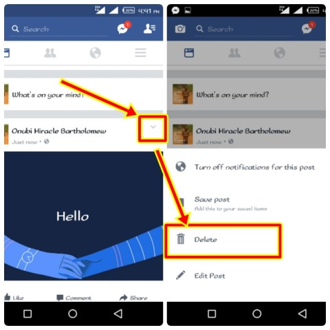 How to Delete Facebook Post on Android App | Remove Post on Timeline