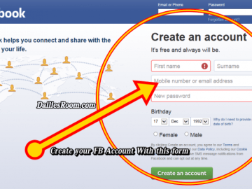 How To Open A New Facebook Account From www.facebook.com or FB App