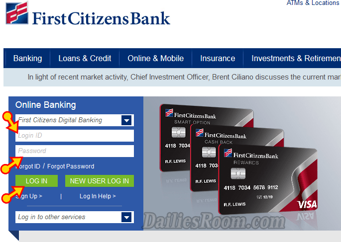 First Citizens Online Banking Login via www.firstcitizens.com Online & Mobile