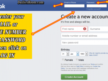 FB.com Log In or Sign Up - New Facebook Account/Profile Login