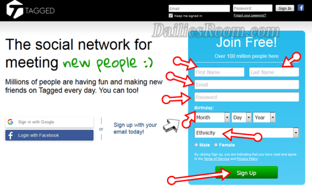 Tagged Sign Up New Account   Tagged.com Login   Tagged Download