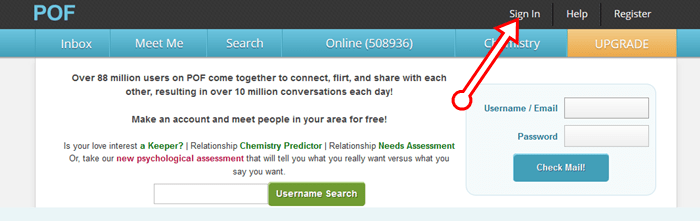 Pof online dating login