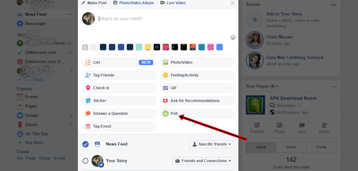 How To Create Poll On Facebook Group / Facebook Poll Add Options