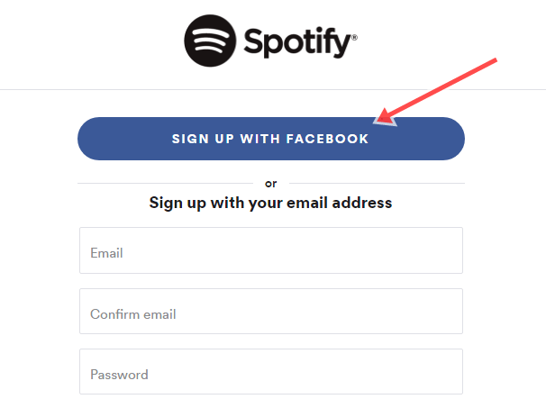 Spotify Account Sign up | Spotify Registration Using Facebook Account